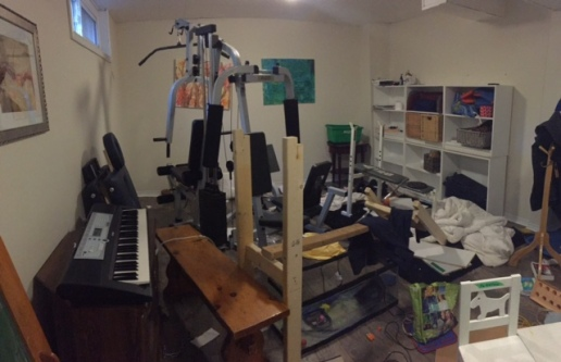 """the """"everything"""" room. Cluttered!"""