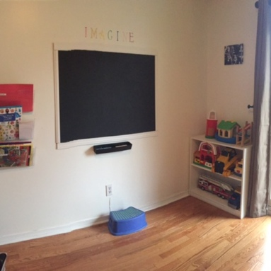 I turned it into a playroom!